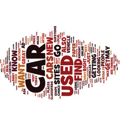 Find a used car text background word cloud concept vector