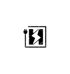 Flash logo initial h symbol electrical icon vector