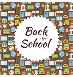 Flat Pattern Back to School Background vector