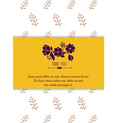 Floral and decorative background with text vector