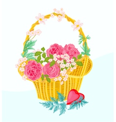 Flower-cupcake-greeting vector