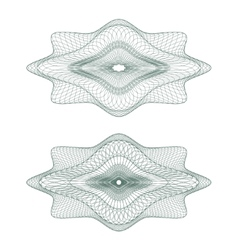 Guilloche rosettes vector