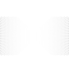 Halftone perspective dotted background vector