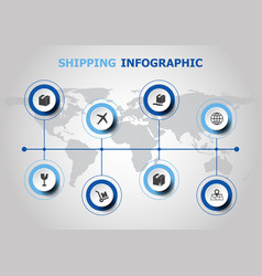 Infographic design with shipping icons vector