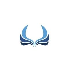 Isolated wings logo Bird element logotype vector