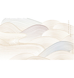 Japanese background with line art pattern vector