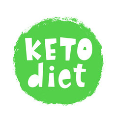 keto diet badge sign vector image
