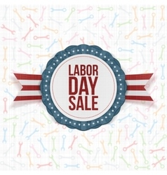Labor Day Sale Background Template vector image