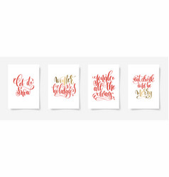 Let it snow winter holidays jingle all way vector