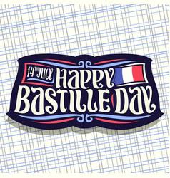 logo for bastille day vector image