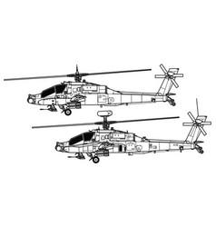 Mcdonnell douglas ah-64 apache vector