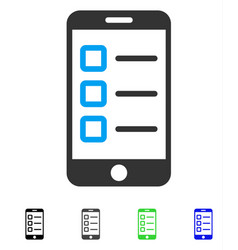 mobile test flat icon vector image