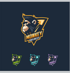 monkey logo design template vector image
