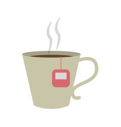 mug with tea bag icon image vector image