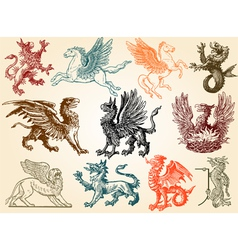 Mythical animals vector