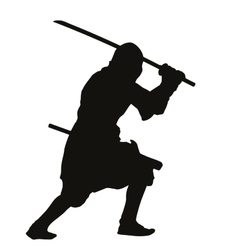 Ninja Warriors Theme vector image