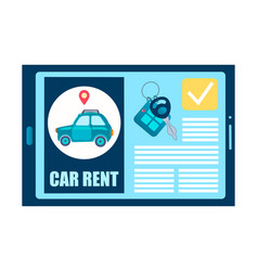 Online car rental vector
