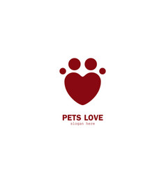 pet love logo vector image