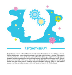 Psychology concept banner template in flat style vector