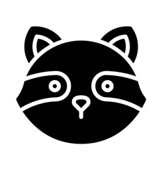 Raccoon head icon thanksgiving related vector