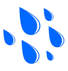 rain drops on white background vector image