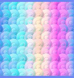 rainbow seashells geometric seamless pattern vector image