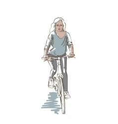 Riding Woman Sketch vector image