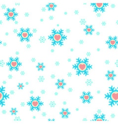 seamless Christmas background with snowflakes and vector image