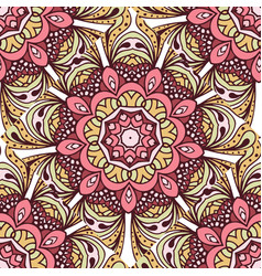 Seamless pattern with decorative elements vector