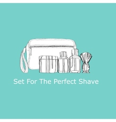 set for the perfect shave vector image
