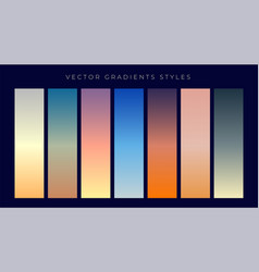 Set of sky dusk and dawn gradient background vector