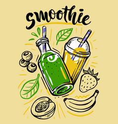 sketch fresh smoothie vector image