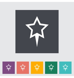 Star pin vector