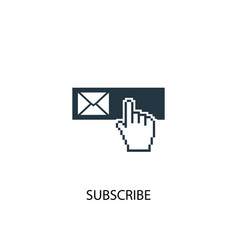 subscribe icon simple element vector image