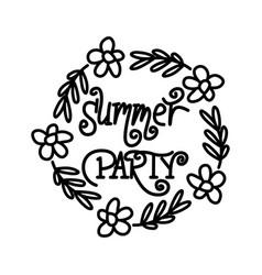 summer party script text design template vector image