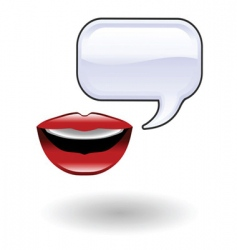 talk illustration vector image