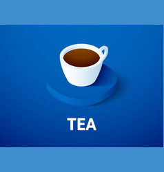Tea isometric icon isolated on color background vector