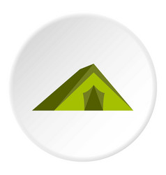 Tourist tent icon circle vector