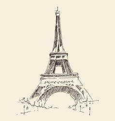 Tower Paris France architecture vintage vector