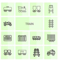 Train icons vector