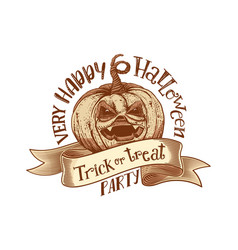 Trick or treat retro happy halloween party vector