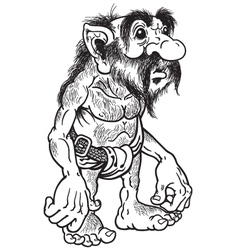 Troll black and white vector