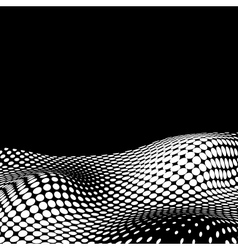 Wavy Halftone Background For Text vector image