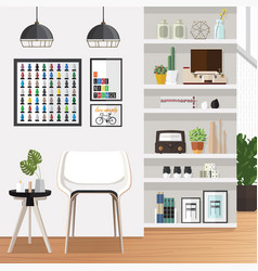 White living room vector