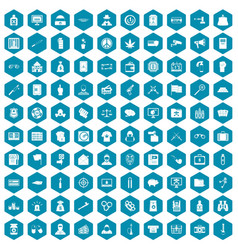 100 criminal offence icons sapphirine violet vector image vector image