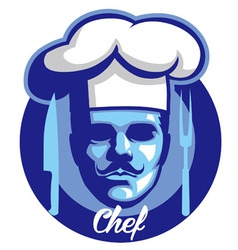 chef face mascot vector image