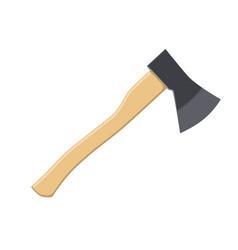 Wooden axe icon vector