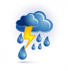 cloud and lightning vector image vector image