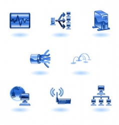 computer network icons vector image vector image