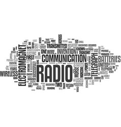 a brief history of the radio text word cloud vector image vector image